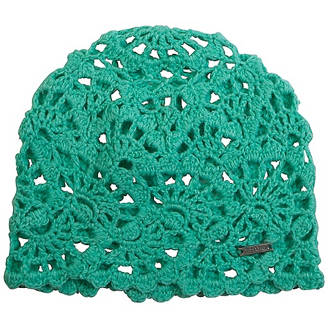 Prana Women's Annabelle Crochet Skully DECENT FEATURES of the Prana Women's Annabelle Crochet Skully Lightweight open crochet beanie Tonal, two-color twisted yarns Metal logo plate Skully fit The SPECS 50 Org Cotton / 50 Acrylic - $27.95