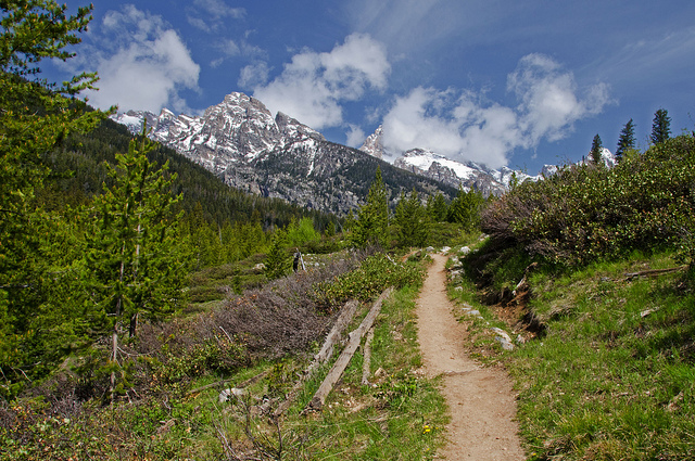 Camp and Hike Trail to Taggart Lake - Grand Teton National Park