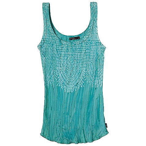 Surf Free Shipping. Prana Women's Sublime Tank DECENT FEATURES of the Prana Women's Sublime Tank Jersey with in.Rain Washin. tie dye Mosaic print at front Shirttail bottom hem The SPECS 100 Organic Cotton - $54.95