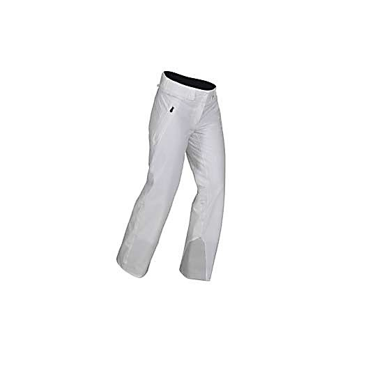 Ski KJUS Razor Womens Ski Pants - The Kjus Razor Pants for Women are premium performance ski pants and are highly technical to keep you on top of your game. The Razor features 4-way stretch Dermizax NX fabric for freedom of movement, as well as high water-resistance and breathability. The integrated kidney warmer provides added protection from the elements, and reinforced leg endings for added durability. The Razor features Kjus' regular fit, which is meant to be trim to move with the body, performing well and makes a statement with a flattering look. . Model Year: 2013, Product ID: 309351, Model Number: LS20-401.10000 XS, GTIN: 7612997262236, Pockets: 3-4, Waist: Adjustable, Lining Material: Polyester/Spandex, Pant Fit: Regular, Type: Insulated, Use: Ski, Breathability: Extreme Breathability (> 20,000g), Waterproof: Extreme Waterproofing (> 20,000mm), Race: No, Warranty: Lifetime, Low Rise: No, Articulated Knee: Yes, Suspenders: None, Thigh Zip Venting: No, Full Zip Sides: No, Breathability Rating: 40,000g, Waterproof Rating: 30,000mm, Taped Seams: Fully Taped, Insulation Weight: 70g, Softshell: No, Exterior Material: Polyamide/Polyurethane - $299.89