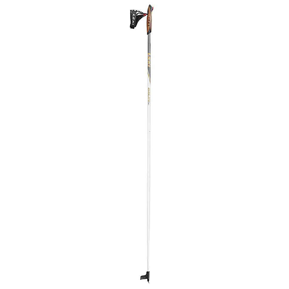 Ski Leki Nordic Evolite Cross Country Ski Poles - There is no comparison. The Leki Nordic Evolite Ski Pole has proved to the outdoor enthusiasts as to the quality, value and technology that goes into every product. This Leki Nordic Evolite Ski Pole has the State of the Art quick release strap with exclusive cord connection, internal auto-release spring visible through grip window and integrated positive angle for perfectly positioned pole plants. The connection between grip and strap and between grip and glove has been reduced to a ring-shaped cord, a tear proof material used in the production of parachutes lines. The Nordic Evolite Ski Pole by Leki provides an unmatched system of convenience, performance and security. This unique styling and construction combines for a quick, easy click-in/click-out performance. Features: State of the Art Design for performance, comfort and control, Quick Release Strap with exclusive Dyneeme Cord (high strength/tear proof material) cord connection, Internal auto - release spring visible through grip window, Integrated positive angle for perfectly positioned pole plants, Shaft 6.0 / Shaft size 16. Warranty: One Year, Model Year: 2011, Product ID: 197735, Grip: Trigger Cork Grip, Gender: Adult, Intended Use: Touring, Shaft Material: Aluminum, Special Features: Trigger Strap - $79.98