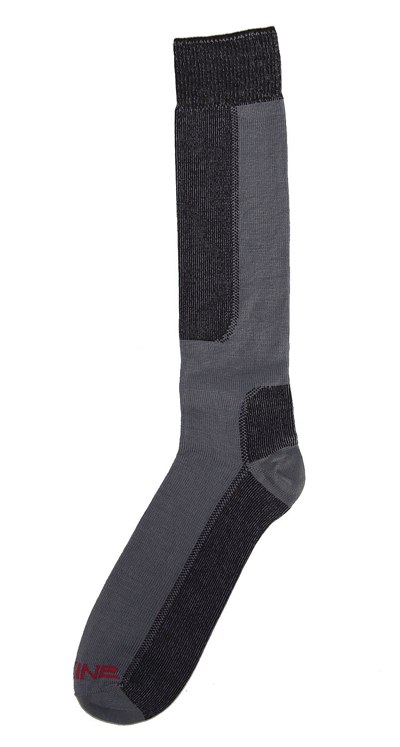 "Snowboard Key Features of The Dakine Thin Line Snowboard Socks: 55% Merino Lambs Wool, 44% Stretch Nylon, 1% Lycra Thin Profile for Ultimate ""Foot to Boot"" Connection Rolled No Slip Welt Top Keeps Socks Up Elastic Ankle Support for ""No-Sag"" Fit Reinforced Heel and Toe For Durability Reversed Toe Seam for Comfort - $9.95"