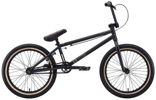 "BMX Key Features of the Eastern Phantom BMX Bike Matte Black w/ Black Rims 20"": WEIGHT // 24.5 LBS TOP TUBE SIZE // 21"" COLORS // Matte Purple/Green, Matte Black GEARING // 25/9 Micro-drive FRAME // FULL 4130 chromoly Phantom frame with ""E"" logo cut out in Headtube, classic Eastern Seat tube cutout, Hydroformed downtube, integrated gusset. Integrated headset, mid BB, replaceable brake mounts and cable stop, holes for replaceable gyro tabs. 78mm wide BB to allow for wider tire clearance. Eastern Promise: lifetime warranty, lifetime upgrade policy FORK // Eastern FULL 4130 chromoly, 1pc. CNCed steerer tube, machined bearing race with tapered legs and hangfree dropout design, 25mm Offset BARS // Eastern FULL 4130 chromoly 8.5""x 28.5"" with 2mm Wall Thickness on Grip Tube & 1.2mm Thickness on Crossbar, 1"" Upsweep, 12"" Backsweep HEADSET // Sealed Bearing 45/45 Integrated BB // Sealed Bearing, Mid Bottom Bracket PEDALS // Eastern Crown pedals GRIPS // Eastern Truffle Grip STEM // Eastern Compressor 6061 alloy CNCed frontload stem SPROCKET // Eastern Phorcys 25T 6061 Alloy CRANKS // Eastern 175mm, tubular chromoly heat treated 3pc. cranks with 8 spline spindle SEAT // Eastern logo 1pc. seat and alloy post combo, Durable Nylon Cover, and Stitched Logo SEATPOST // Alloy post included with seat SEAT CLAMP // Eastern Slant Forged TIRES // Eastern Fuquay Flyer 20""x 2.3"" OEM FRONT HUB // Sealed Bearing, 36 hole Alloy Shell, 3/8"" Chromoly axle REAR HUB // Fully Sealed 36 hole cassette hub, Forged Alloy Shell, 1pc. 9-tooth chromoly driver, 14mm chromoly axle, 5 sealed bearings. RIMS // Double Wall Alloy, 36 Hole REAR BRAKES // Tektro Forged Alloy U-Brake/ Straight Cable / Eastern 6061 Forged Lever with Hinged Clamp FREEWHEEL // Sealed Bearing, 9T 1pc. Driver CHAIN // Half Link Chain PEGS // 2 pegs - $438.95"