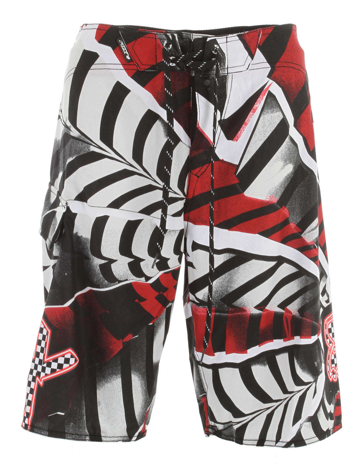 "Surf Key Features of the Fox Shattered Boardshorts: 100% polyester mesh stretch Fully sublimated graphics Side pocket Zipper fly Wax comb 22 1/2"" outseam - $38.95"