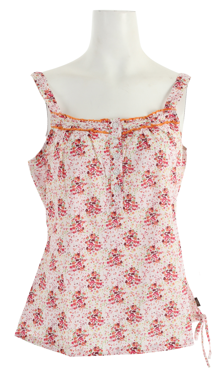 Surf If you like to lie on your back in a meadow and make up stories about passing clouds, this light, loose fitting, and breezy tank top is for you.Key Features of the Prana Mary Jane Tank Top: Tank top in light, breezy voile Loose fitting with elasticated hem All-over floral print 100 Cotton - $19.95