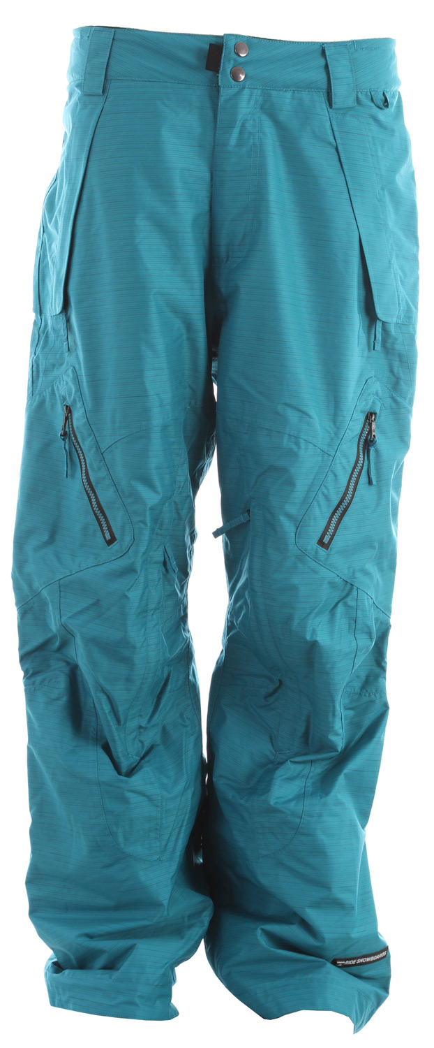Snowboard The Alki snowboard pant offers premium waterproof protection with a 20k/15k waterproof breathable rating, Fully Taped Seams and all of the 20K Rideractive Features so you can be sure to stay dry no matter what's showing up on the doppler. Add the Ride Alki snowboard pant to your outerwear kit today.Key Features of the Ride Alki Snowboard Pants: 20,000mm Waterproof 15,000g Breathability Snowboard pant Shell with Tricot Mesh and Taffeta Lining Riri AQUAzip® Water-Resistant Zippers BOA Window Cut Out on Gaiter for Easy Boot Adjustment Inner Waist Adjustments with Double-Snap Waist Closure Pant-to-Jacket Zip Connector Articulation at the Knees Slider Liner Mesh-Lined Vents Velvety Tricot Inner Waist and Fly Shred-Free Slightly Higher Pant Leg Back Adjustable Lycra Boot Gaiters Inner Leg Snap Pleat Lift Ticket Self-Fabric Loop Front Micro-Fleece Lined Toaster Pockets Classic Fit snowboard pant - $160.95