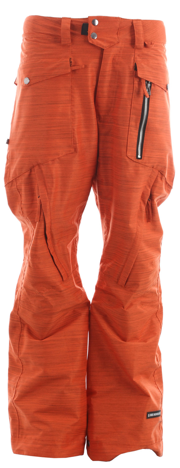 Snowboard The Westlake snowboard pant comes with a solid 15k/10k waterproof breathable rating, Fully Taped Seams and all of the 15k Rideractive Features giving you a waterproof slim fit snowboard pant that will properly bring your street style to the mountain.Key Features of the Ride Westlake Snowboard Pants: 15,000mm Waterproof 10,000g Breathability Shell snowboard pant with Mesh Lining Exposed Front Metal Zippered Pocket BOA Window Cut Out on Gaiter for Easy Boot Adjustment Inner Waist Adjustments with Double-Snap Waist Closure Articulation at the Knees Slider Liner Mesh-Lined Vents Velvety Tricot Inner Waist, Butt and Fly Shred-Free Slightly Higher Pant Leg Back Adjustable Boot Gaiters Inner Leg Snap Pleat Lift Ticket Self-Fabric Loop Front Micro-Fleece Lined Toaster Pockets Slim Fit snowboard pant - $83.95