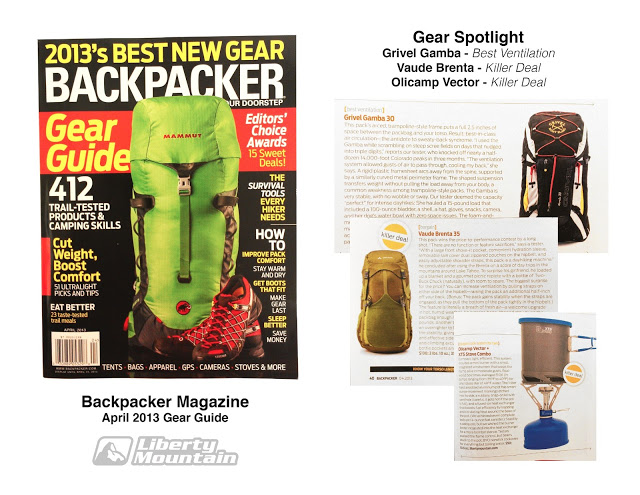 Camp and Hike Some great gear featured in the latest Gear Guide by Backpacker Mag.