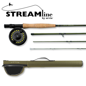Flyfishing Orvis 5-weight Streamline Fly Rod and Reel