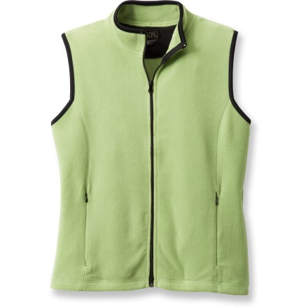Sometimes a vest is exactly what you need to take the chill out of an early morning walk. The Alps Daybreak vest delivers warmth along with attractive styling to keep you feeling and looking good. Soft polyester fleece keeps you warm on cool days. Zippered pockets are hidden in the princess seams on the front of the vest. Closeout. - $19.73