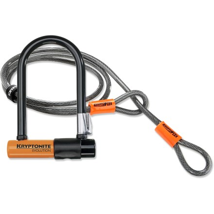 Fitness Combining the robust protection of the Evolution Mini-7 U-Lock with a versatile and flexible 4 ft. Flex Cable, this package deal offers great value and convenient security for your bike. - $50.93