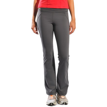 Fitness The regular-fit, mid-rise Lole Lively pants with 32 in. inseam are designed for an active lifestyle that includes yoga, jogging and walking around town. Nylon/elastane pants have a comfortable amount of stretch for yoga poses and morning jogs; fabric dries quickly when damp. With a UPF 50+ rating, fabric provides excellent protection against harmful ultraviolet rays. Mesh lining under waistband enhances wicking and is soft next to. Lined gusset at the crotch allows great range of motion for yoga class. Hidden pocket at the waistband gives you a spot to stash a house key or credit card. Flatlock seams reduce chafing and increase durability. Lole Lively pants with 32 in. inseam are narrow through hips and thighs with loose, flared opening. Closeout. - $40.73