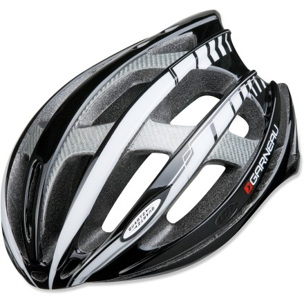 Fitness The Louis Garneau Quartz bike helmet has enormous ventilation chambers yet amazing protection so you can cruise along in comfort. Patented design features ring-shaped protection at the base of the helmet to reinforce the perimeter and provide excellent structural strength. Composite reinforcements spread the shock of impact and provide strength where needed without weighing down the helmet. Spiderlock SL system allows quick adjustments to stabilize the helmet on your head; wheel mechanism is easy to operate with 1 hand. Quick-drying padding adds comfort and helps keep odors away. Louis Garneau Quartz bike helmet meets CPSC-ASTM-CEN standards for bicycle helmets. Closeout. - $50.73
