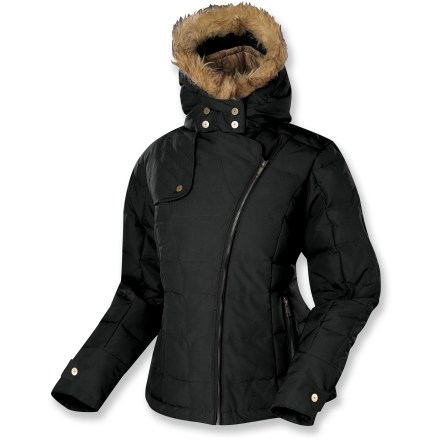 Hunting Add some style to your winter coat collection with the Sierra Designs Snowmass jacket. Duck down insulation and a durable outer shell keeps the cold at bay. Insulated with 500-fill-power duck down for warmth, light weight and compressibility. Blend of cotton/nylon fabric gives a soft, natural feel and texture to the jacket and offers light protection against rain and wind. Attached, adjustable hood with removable faux fur trim ensures cozy coverage. Front pockets keep small essentials close at hand. Hand wash only; tumble dry low. Closeout. - $118.73