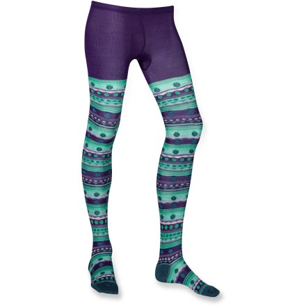 Bright colors and eye-catching patterns make the girls' SmartWool Funky Fairisle tights a fun addition to her cold-weather wardrobe. She'll want to wear them every day until spring flowers bloom. - $9.73