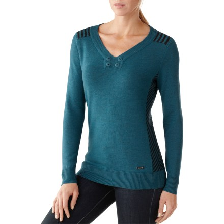 With casual style that looks great anywhere, the SmartWool Piney Lake Henley sweater offers lightweight, breathable coverage for complete comfort in cool or warm weather. Piney Lake Henley sweater has a jersey knit body with rib-knit cuffs and hem; decorative buttons complement neckline. SmartWool process ensures soft, breathable insulation that doesn't shrink when washed. Hand wash in cold water and lay flat to dry. Semifitted cut is not too tight and not too loose. Closeout. - $40.73