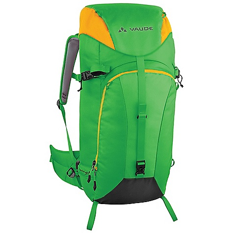 Ski Free Shipping. Vaude Sentinel 30 plus 8 Pack DECENT FEATURES of the Vaude Sentinel 30 plus 8 Pack Zip pocket in the lid Additional zip lid pocket inside Variable lid height Removable lid Information panel for alpine emergency situations under the lid Rope holder under the lid Front compartment for shovel and probe Front attachment points for snowshoes Side ski attachment Gear attachment Helmet holder Sternum strap with whistle Removable hip belt Opening for hydration system The SPECS Weight: 1.535 kg 100% Polyamide 300 D Cordura Dobby Polyurethane coated Contrast: 100% Polyamide 210 D Dobby Waterproof Polyurethane coated Lining: 100% Polyester 200 D Polyurethane coated - $161.95