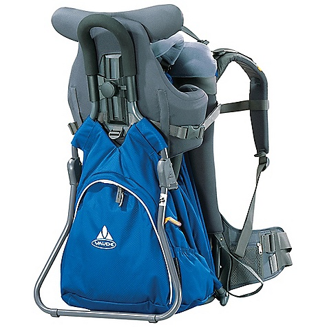 Free Shipping. Vaude Farfalla Comfort 20L Pack DECENT FEATURES of the Vaude Farfalla Comfort 20L Pack Spacious floor compartment Height adjustable torso support Non-reachable footing joint Adjustable headrest with cover Belts can be reached from outside Handles on front and back (works as head protection) Foot supports Changing mat Sun and rain protection The SPECS Weight: 4.24 kg 100% Polyester 300 D Honeycomb Polyurethane coated Child Seat: 100% Polyester Sun and Rain Protection: 100% Polyamide 190 T Polyurethane coated - $299.95