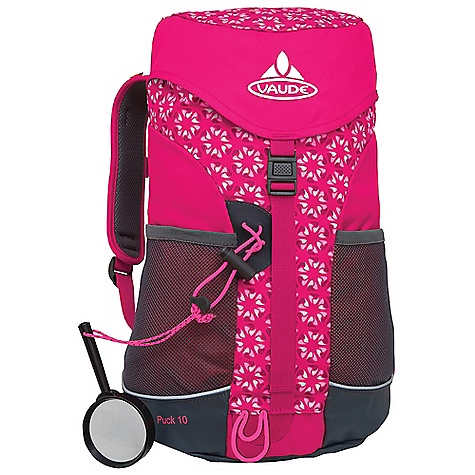 Camp and Hike Free Shipping. Vaude Kids' Puck 10L Pack DECENT FEATURES of the Vaude Kids' Puck 10L Pack Zip pocket in the lid Jacket holder under the lid Gear loops 2 Outer mesh pockets Webbing hip belt Sternum strap Reflective piping Magnifying glass Seating mat The SPECS Weight: 0.54 kg 100% Polyester 600 D Polyurethane coated Bottom: 100% Polyamide 800 D Mega Tarpaulin Lining: 100% Polyester 200 D Polyurethane coated Rain Cover: 100% Polyamide 190 T Polyurethane coated - $54.95