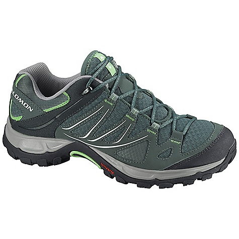 Camp and Hike Free Shipping. Salomon Women's Ellipse Aero Shoe DECENT FEATURES of the Salomon Women's Ellipse Aero Shoe Quick Drying Breathable Mesh Optimized Fit for Women Low Textile Die Cut EVA Mud Guard Non Marking Contagrip Women's Specific Design - $99.95