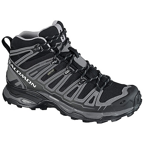 Camp and Hike Free Shipping. Salomon Women's X Ultra Mid GTX Boot DECENT FEATURES of the Salomon Women's X Ultra Mid GTX Boot Protective Rubber Toe Cap Gore-Tex Performance Comfort Footwear Waterproof Leather Mud Guard Molded EVA Mid Sensifit Non Marking Contagrip EVA Shaped Footbed Gusseted Tongue Textile Advanced Chassis OrthoLite - $159.95