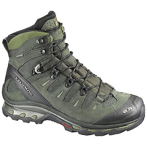 Camp and Hike Free Shipping. Salomon Men's Quest 4D GTX Boot DECENT FEATURES of the Salomon Men's Quest 4D GTX Boot Lightweight 4D Advanced Chassis midsole Durable leather and nylon upper with Gore-Tex Padded tongue Removable antimicrobial Ortholite footbeds The SPECS Material: leather, nylon, Gore-Tex XCR Sole: Contragrip Weight: [pair] 2 lb 13 oz Recommended Use: backpacking, hiking, mountaineering - $229.95