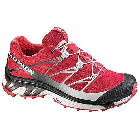 Camp and Hike Free Shipping. Salomon Women's XT Wings 3 Shoe DECENT FEATURES of the Salomon Women's XT Wings 3 Shoe Strategically Placed Textile Parts Mud Guard Non Marking Contagrip Triple Density EVA OrthoLite Quick Drying Breathable Mesh Protective TPU Toe Cap Lace Pocket Sensifit Molded EVA Tongue Cover Quicklace EVA Shaped Footbed - $139.95