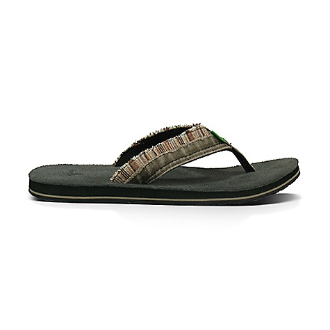 Surf Sanuk Men's Fraid Too Sandal DECENT FEATURES of the Sanuk Men's Fraid Too Sandal Super Soft, High Rebound EVA Footbed with Premium Suede Sockliner Happy U Rubber Sponge Outsole Two Layer Poncho and Canvas Strap with Fraying for a Worn Look Super Comfy Terrycloth Liner - $43.95