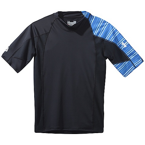Fitness Free Shipping. Under Armour Men's Greyton SS Rashguard DECENT FEATURES of the Under Armour Men's Greyton Short Sleeve Rashguard Highly Abrasion Resistant Mesh Panels Underarm Quick dry fabric Armour block anti-odor technology The SPECS Body: 6.9 oz, 87% Nylon/13% Elastane - $54.95