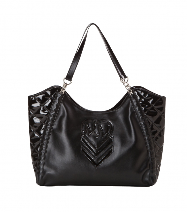 Motorsports Metal Mulisha girls quilted faux leather purse with logo and chain detail.16.75'' W x 11.75'' H x 4'' D - $32.99