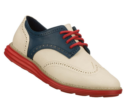 Entertainment Roaring good retro style and comfort come in the SKECHERS Groove Lite - Speakeasy shoe.  Smooth faux leather upper in a lace up dress casual wing tip oxford with stitching; overlay and perforation accents. - $65.00