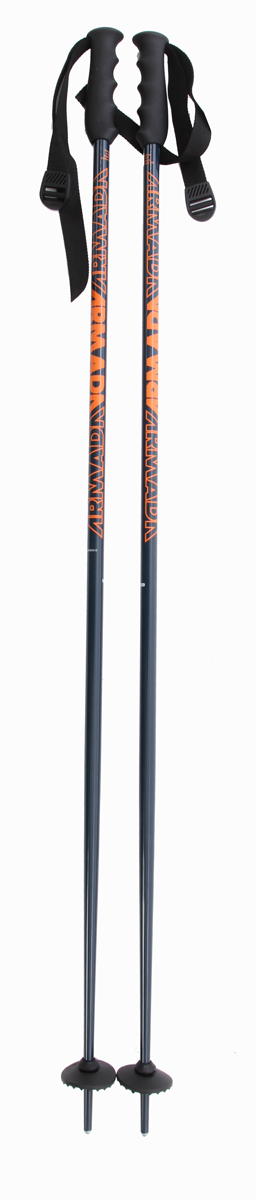 Ski Key Features of the Armada Triad Ski Poles: 5083 Aluminum Shaft Steel Tip @ 18mm Vario Flex Interchangeable basket system: 60mm basket included PE Grip - $27.95