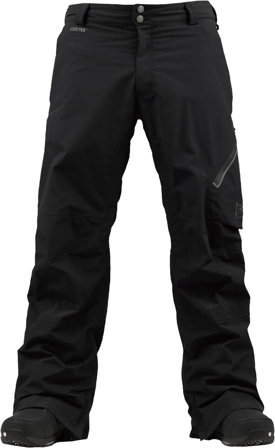 Snowboard Step up to the [ak] advantage. Mandatory GOre-teX fabric performance for the 100-day season.Key Features of the Burton AK 2L Cyclic Snowboard Pants: Waterproofing: Gore-Tex® Fabric (2-Layer) Fully taped seams with Gore-Seam® tape [13MM] Warmth: mapped with Mesh Lining [ak] Fit with engineered articulation YKK® Matte water-resistant Zippers Zippered Cargo Pocket Light reflective Detailing Lifetime warranty Includes Men's [ak] Pant Features Package GORE-TEX® Fabric Fully Taped Seams with GORE-SEAM® Tape [ak] Fit with Engineered Articulation Inner Thigh Vents Integrated Waist Adjustment [ak] Logo Fly Shanks Ghetto Slits Snap-Up Leg Lifts™—Keep Your Cuffs Scuff-Free Lifetime Warranty Zippered, Microfleece-Lined Handwarmer Pockets Jacket-to-Pant Interface Boot Gaiter with Cuff-to-Boot Interface Headphone Cable Port - $216.95