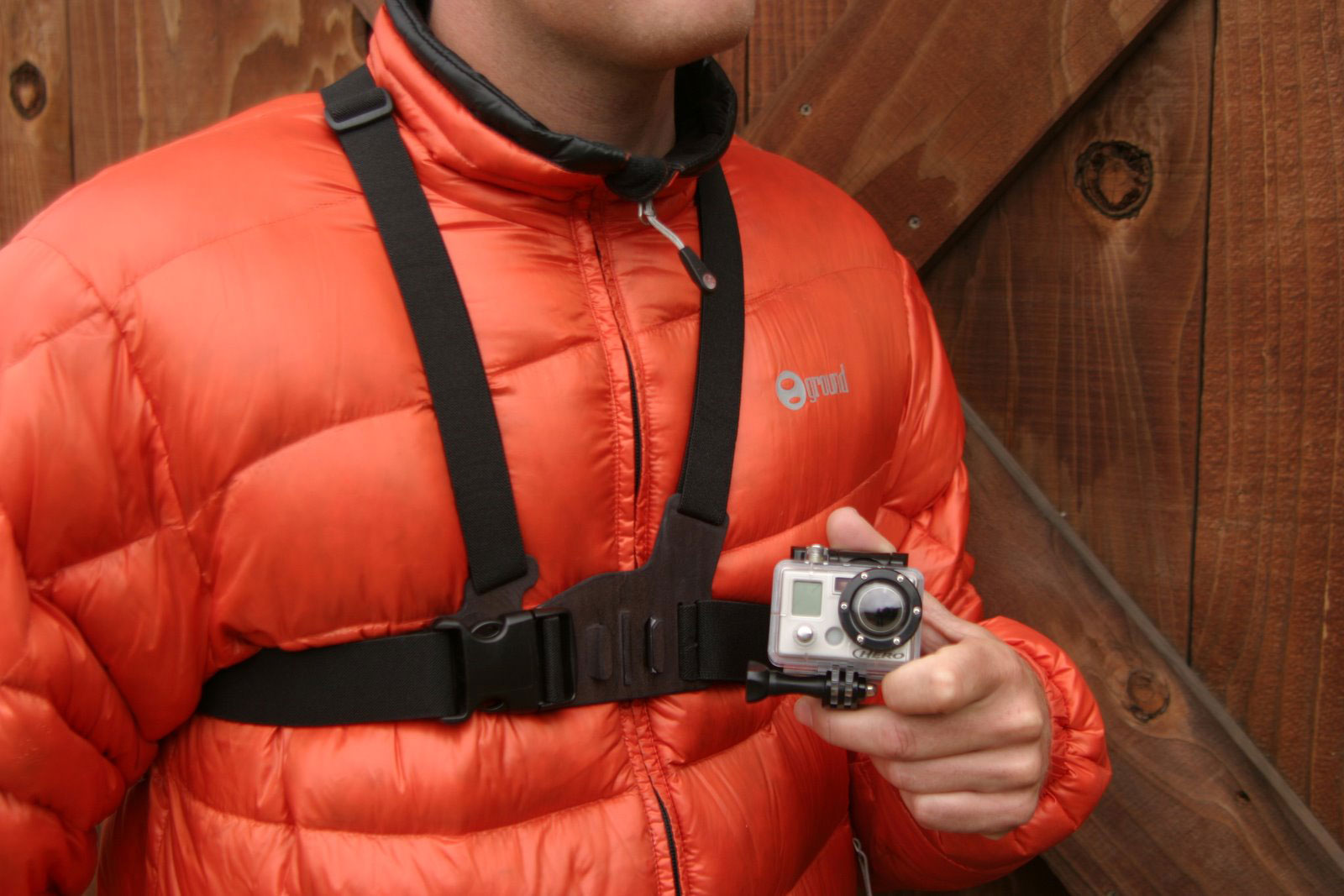 "Surf Chest harness for your quick-release HERO camera. Makes it easy to capture immersive video and photo footage from, well. your chest. Perfect for skiing, mountain biking, motocross, paddle sports, or any activity where you want to get a ""lower than the helmet"" view of the action. See more of your arms, knees poles, and skis while skiing. or your arms and handlebars while biking or riding your motorcycle. Recommended as a more immersive way to film than on the helmet.One size fits all adjustability. Compatible with all GoPro quick-release cameras including the Helmet HERO Wide, Motorsports HERO Wide, Motorsports HERO, Surf HERO, and WIDE HERO cameras. Not compatible with the Digital HERO 5 Wrist Camera.Key Features of the Go Pro Chest Mount Camera Harness: 1 Adjustable Chest Harness 1 Vertical Surface ""J-Hook"" Buckle Warranty: 1 Year - $39.99"