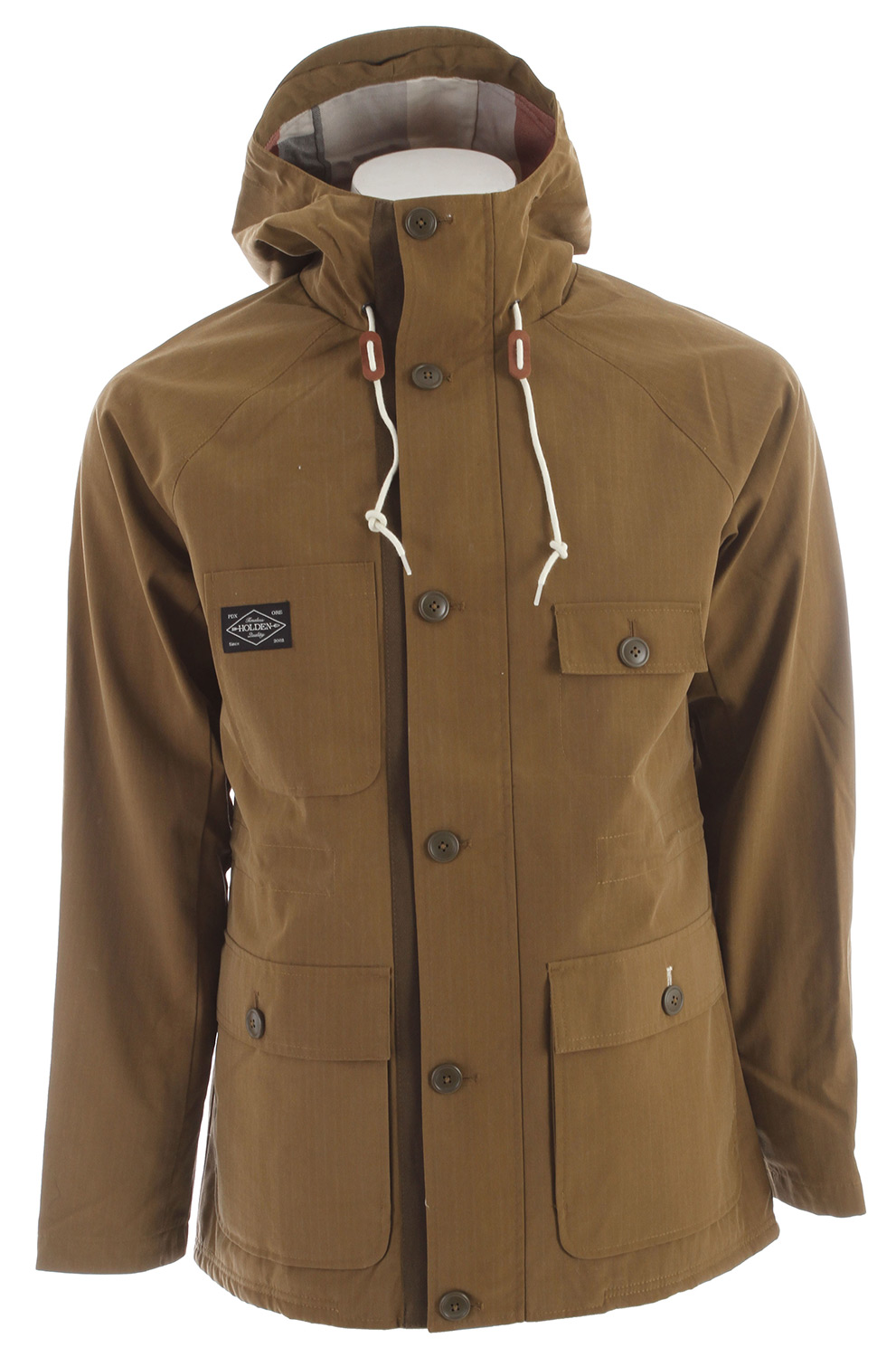 The Camden jacket is made with a DWR coated cotton twill fabric that's been garment-washed for a soft, broken-in look and feel. Sherpa lined interior and flannel in hood, genuine leather details.Key Features of the Holden Camden Jacket: Cotton Flannel Hood Lining Sherpa Body Lining Garment Washed DWR - $220.00