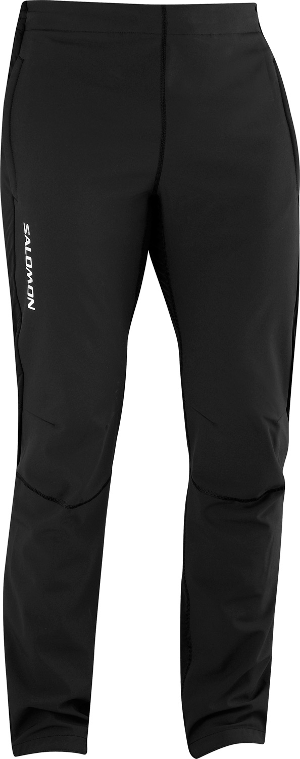 Ski Key Features of the Salomon Momentum II Softshell Cross Country Ski Pants: Cross-country skiing pant Nylon / nylon blend Shell: 60% nylon/32% polyester/8% elastane Paneling: 82% nylon/18% elastane Drawcord waistband Wind-resistant front panels Zippered ankles Articulated knees - $90.95