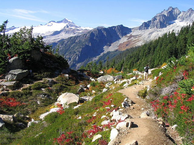 Camp and Hike Along the trail - North Cascades National Park, Washington