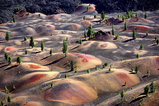 Camp and Hike Painted Dunes, Cinder Cone Trail, Lassen Volcanic National Park