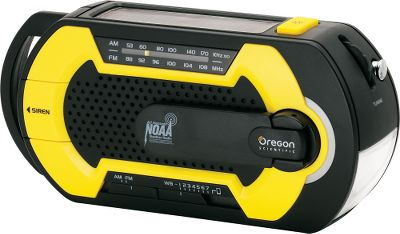 Keep a Crank Emergency Weather Radio in your car or emergency preparedness kit so you always know whats going on during a crisis. When disaster strikes, this radio can operate without batteries using stored power from the solar panel or power from the hand crank. The portable radio has weather band and AM/FM radio modes. A USB port allows you to charge your phone or device. Integrated LED flashlight emergency siren. Uses three AAA batteries (not included). Type: Weather Radios. - $39.99