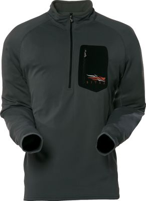 Hunting A professional-grade midweight base layer crafted of polyester/Lycra four-way stretch fabric. Highly wind-resistant, durable yet quiet jersey face teams with moisture-wicking technology to ensure dry, thermal regulation. Soft, lofted microfleece interior helps retain body heat. Antimicrobial technology wards off odor-causing bacteria. Features include thumb loops on the extended sleeve cuffs, a welded chest pocket and a deep chest zipper. Imported. Sizes: M-2XL. Color: Ash. - $129.00