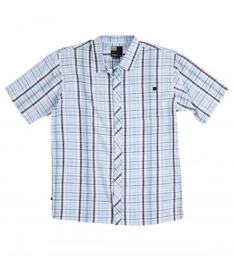 Surf O'Neill Norcal Polynosic Shirt.  Polynosic blend yarn dye plaid s/s woven with sand wash. Logo embroideries and labels. - $32.99