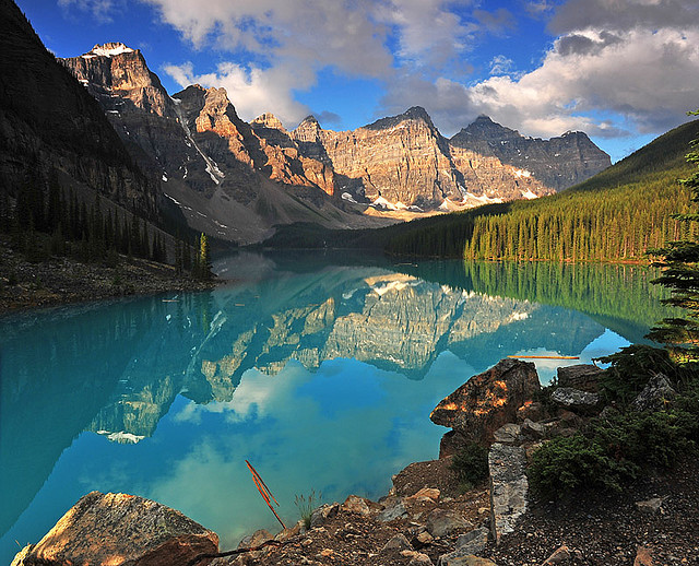 Camp and Hike  Valley of the Ten Peaks, in Banff National Park, Canada