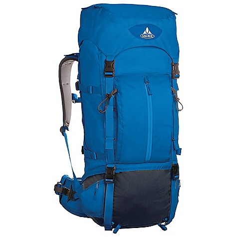 Free Shipping. Vaude Terkum I 55+10L Pack DECENT FEATURES of the Vaude Terkum I 55+10L Pack Removable lid Variable lid height Zip pocket in the lid Additional zip lid pocket inside Access to the main compartment also via zip Front zip pocket Bottle holder Gear attachment Side compression straps Integrated outside pockets Floor compartment Sternum strap Opening for hydration system The SPECS 100% Polyamide 210 D Cordura Dobby Polyurethane coated Contrast: 100% Polyester 600 D Polyurethane coated Bottom: 100% Polyamide 500 D Cordura Polyurethane coated Lining: 100% Polyamide 210 D Polyurethane coated Rain cove - $239.95