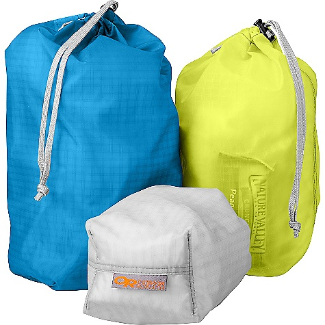 Outdoor Research Ultralight Ditty Sacks FEATURES of the Outdoor Research Ultralight Ditty Sacks Set of Three Ultra Lightweight Drawcord with Cordlock - $29.00