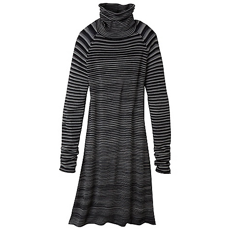 Entertainment Free Shipping. Prana Women's Sereta Sweater Dress DECENT FEATURES of the Prana Women's Sereta Sweater Dress Traditional, fitted turtleneck dress in a four color space dye sweater knit Size small = 36in. (91.4 cm) length from high point shoulder The SPECS Fabric: 77 Spun Rayon / 23 Nylon - $84.95