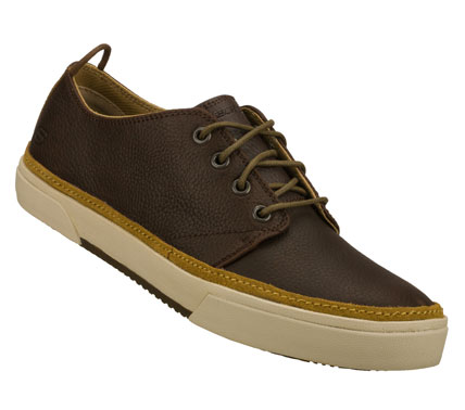 Entertainment Mix things up handsomely with the SKECHERS Dario - Canal shoe.  Full grain textured leather upper in a lace up dress casual oxford with stitching and overlay accents. - $69.00