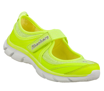 Pretty style meets sporty comfort in the SKECHERS Lite Dreamz - Sweet Dreamz shoe.  Smooth trubuck leather and mesh fabric upper in a sporty casual mary jane sneaker with stitching and overlay accents. - $36.00