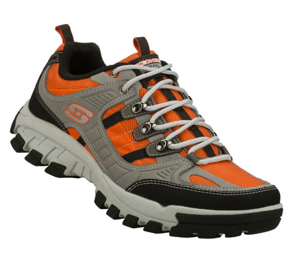 Choose your adventure in the SKECHERS Odyssey - Terrainer shoe.  Smooth leather; synthetic and cordura mesh fabric upper in a lace up athletic trail sport sneaker with stitching and overlay accents. - $63.00