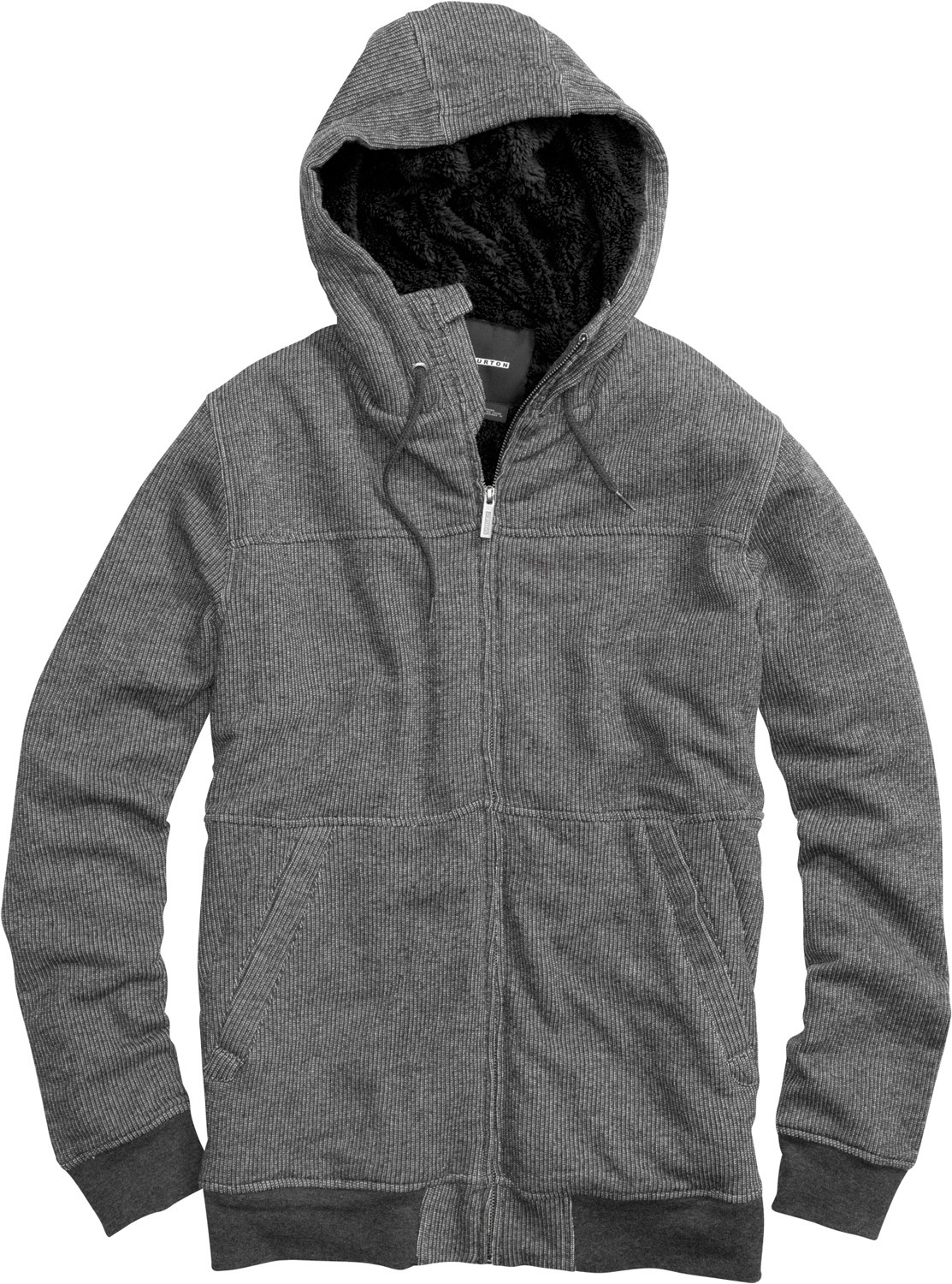 Snowboard Key Features of the Burton Pitch Fullzip Hoodie: Full-Zip Paneled Hoodie with Sherpa Fleece Lining Drop Needle French Terry 60% Cotton, 40% Polyester Sig Fit - $54.95