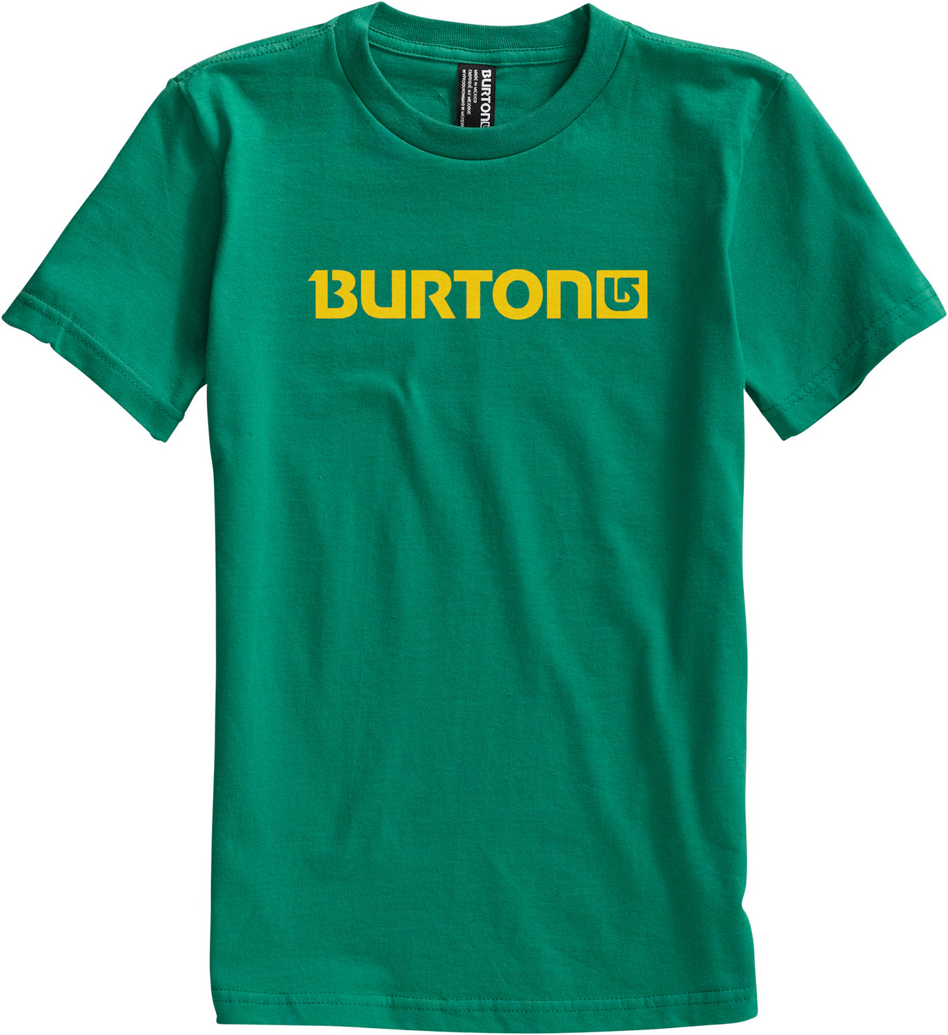 Snowboard Key Features of The Burton Logo Horizontal T-Shirt: Regular Fit Crew Neck Short Sleeve 100% Cotton Screen Print on Front and Back Regular Fit XS-XL - $10.95